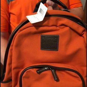 Coach Backpack - Orange